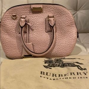 Burberry Pebbled Leather Baby Pink Purse